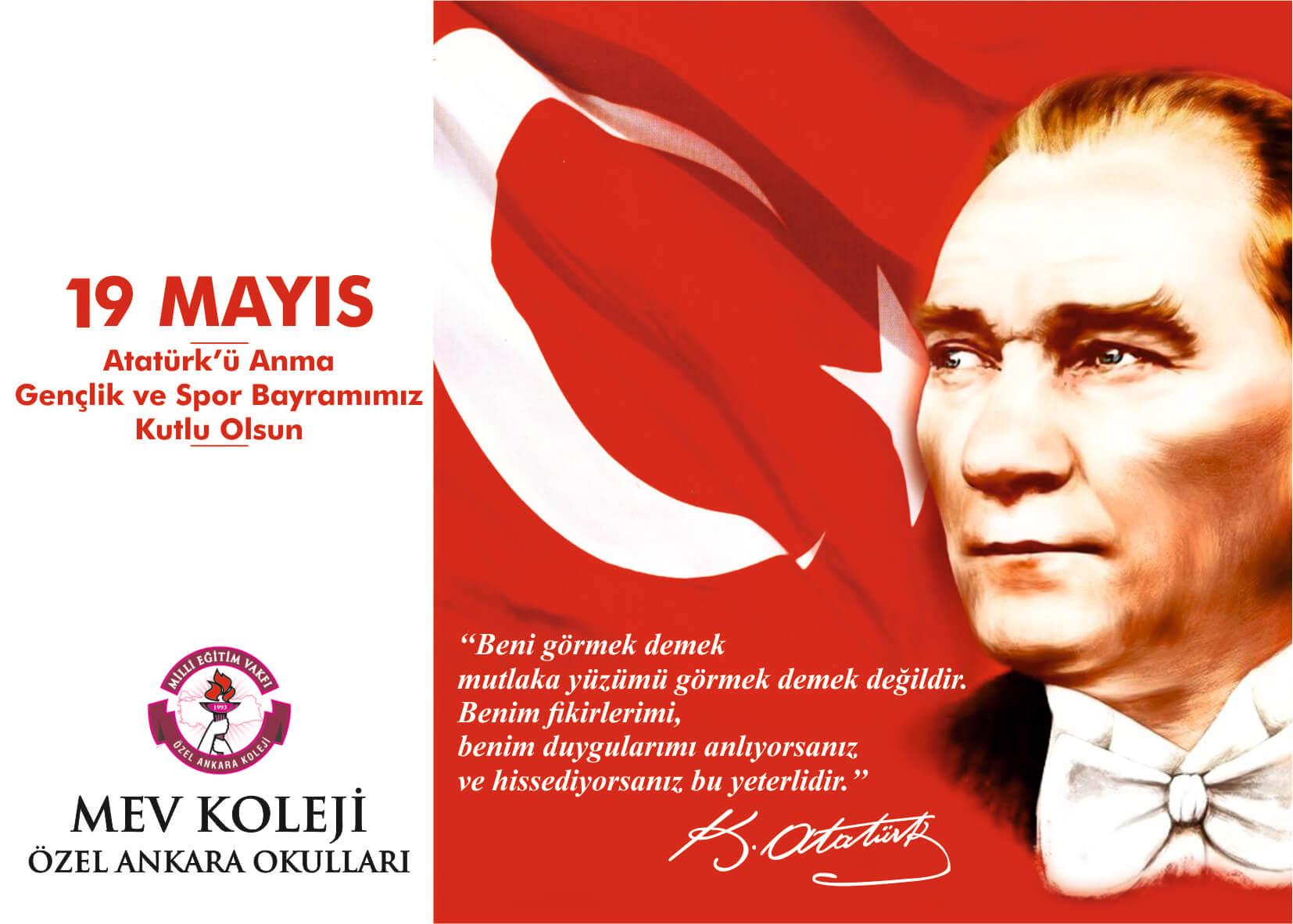 19 Mayıs Atatürk'ü Anma, Gençlik ve Spor Bayramı Törenimiz