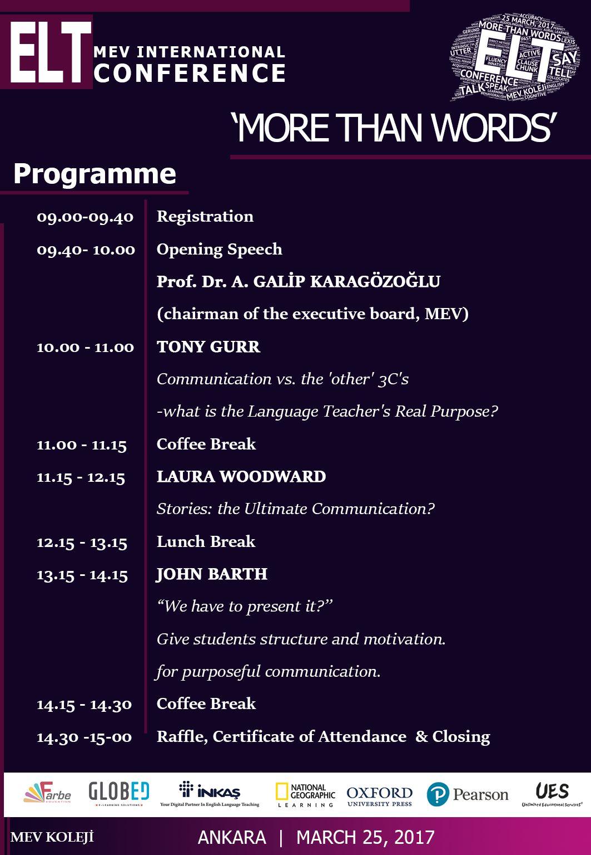 """More Than Words"" ELT Konferansı bu gün!"