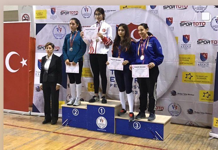 Öğrencimiz ALİSA İSBİR Gençler Flöre Türkiye Şampiyonu!